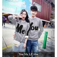 Baju Couple - Sweater Lengan Panjang Murah - Sweater Couple You Me LP Abu fd5b3b8633