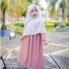 Baby Malika Baju Muslim Bayi Perempuan Aysa Madina Hijab Dress