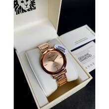 Anne Klein Bnew Authentic Watch 3278Rgrg Diamond Accent Crystal Rose Gold Strap Watch For Women