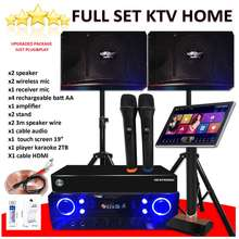 Set A Home Theater Karaoke Set With Bluetooth Smart Tv Led All Support Touch Screen Karaoke