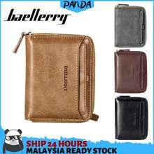 Baellerry Psw08 Pandashop Ready Stock Short Wallet Men Coin Purse Card Holder Dompet Beg Men Wallet Men Bag Bag Lelaki