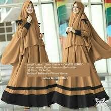 Ladies Fashion Gaun Wanita Muslimah Terbaru GRATIS BERGO   Gamis Remaja  Modern  Gamis Panjang   53f9671ef3