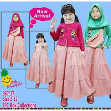 Little Pineapple Dress Anak + Rompi Usia 2-8 Th Original By