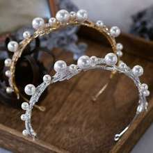 ASH Wedding Faux Pearl Rhinestone Headband