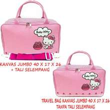 BGC Travel Bag Kanvas Hello Kitty 2 Sisi Bahan Halus Lembut Pinky Baby ( PILIH VARIAN