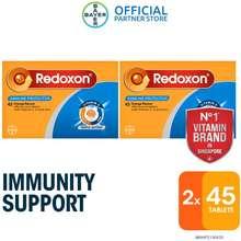 Redoxon [Bundle Of 2] Triple Action Orange Effervescent 45 Tablets