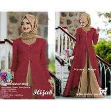 Ladies Fashion Dress Wanita Gamis Muslimah GRATIS PASMINA   Gamis Dewasa   Gamis  Modern   Hijab 1888461788