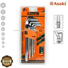 Asaki ประแจหกเหลี่ยม ชุดหกเหลี่ยม หัวบอล (AK-0409) (9 อัน/ชุด)