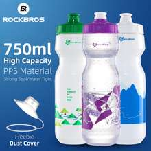 RockBros Bike Water Bottle 750 Ml Bicycle Portable Kettle Water Bottle For Cycling Plastic Outdoor Sports Mountain Bike Drinkware Bottle