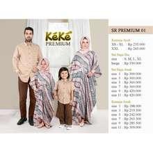 Keke Sarimbit Kaftan Batik Premium Couple Keluarga Srp 01 Biru/Coklat
