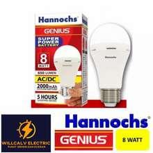 Genius lampu led emergency hannoch 8w 8watt 8 watt