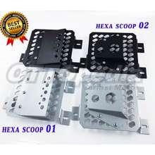 scoop Cover Tutup Radiator Pcx Vario 150 125 Variasi Sarang Tawon Air Hexa 01 Silver