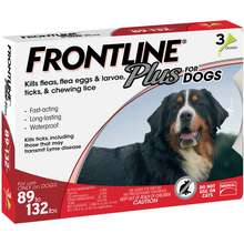 Frontline Plus for Dogs 89132 lbs, 3 Month