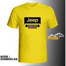 Jeep Baju Kaos Lengan Pendek Otomotif Logo Terbaru Murah All Color L