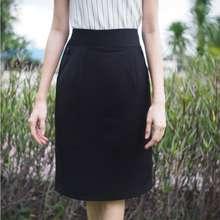 Bykk(บีวายเคเค) กระโปรง กระโปรงทำงาน กระโปรงทรงสอบ ธนู ผ้านาโน สีดำ ไซส์ S,M,L,Xl,2Xl,3Xl,4Xl, 5Xlยาว 21,24 นิ้ว Skirt