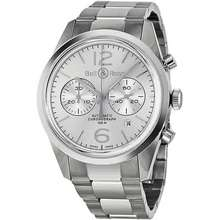 A.N.D. Officer Automatic Chronograph Silver Dial Mens Watch BR126 WH ST SS