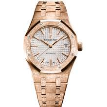 Audemars Piguet Royal Oak Frosted Pink gold toned Dial Automatic Ladies 18kt Rose Gold Watch 15454OR.GG.1259OR.03