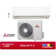 Mitsubishi SRK10YN-S 1.0HP Deluxe Inverter Wall Type Aircon