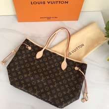 Louis Vuitton Tas Wanita Import Bag Lv Neverfull Medium Mirror Quality