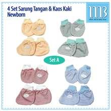 Miyo Sarung Tangan Bayi & Kaos Kaki Bayi Motif 4In1 - Kaos Tangan Bayi Newborn
