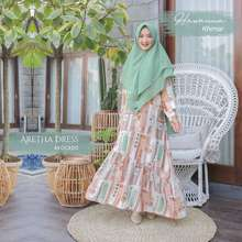 Audina Aretha Dress X Hawanna Khimar Original By Hijab