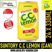 Suntory C.C Lemon 330Ml X 24 (Can) - Free Delivery Within 3 Working Days!