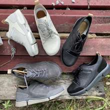 Clarks [Ready Stock] Trigenic Lace20 Leather Men Shoes Low Tops Shoes