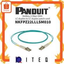 PANDUIT Netkey 2-Fiber Om4 Lc Duplex To Lc Duplex Patch Cord 10M | Nkfpz22Lllsm010