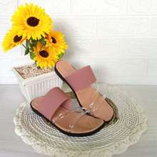 Lokal Brand TERESIA ORIGINAL - Sandal Wanita TR 06 - Sandal Flat Wanita Korea - Sandal Teplek (EU:37, Salem)