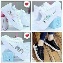 TK Sepatu Kets Putih Meow Lucu Sepatu Kets Sneakers Anak Cewek Cowok Meow Kucing Sepatu Sekolah Sd Smp Anak Laki Perempuan Trendy