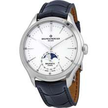 Baume et Mercier Clifton Chronograph Automatic Moon Phase White Dial Mens Watch 10549