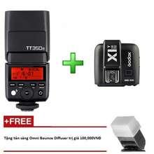 Godox Đèn Flash Tt350 N Cho Nikon Kèm Trigger X1 Tích Hợp Ttl, Hss 1/8000S - Tặng Tản Sáng Omni Bouce