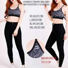 Champion Sport Bra 27 Strappy Grey