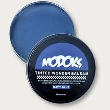 semir Modoks Tinted Wonder Balsam Leather Care Shoe Polish Sepatu Navy Blue