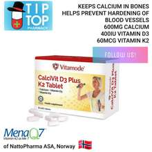 Vitamode Calcivit D3 Plus K2 Tablets 60'S ( Calcium, Vitamin D3 & Vitamin K2. Halal & Vegetarian Friendly )
