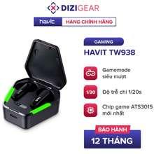 Havit Tai Nghe Gaming True Wireless Tw938 Bass Chất Game Mượt, Chip Ats3015 Giảm Độ Trễ 50Ms - Chính Hãng Bh 12 Tháng