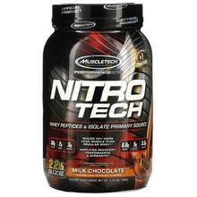 MuscleTech Performance Series Nitro Tech Whey Peptides & Isolate Primary Source Milk Chocolate 2.20 lbs (998 g)