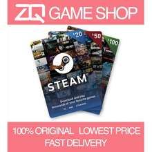 Steam Wallet [🌍Global] Official Code Card Credit $15/20/30/50/100 (⚡Fast Delivery)