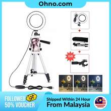 Led Studio Camera Ring Light With Tripod Stand & Cell Phone Holder For Youtube Live Video Makeup Photography