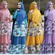 Agoest Hanggono GAMIS TISYE by AGOESTHANGGONO DRESS MODERN IBUINDUNG (Int: One size, pink)