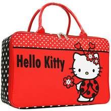 Hello Kitty Tas Anak Travel Bag Motif Flower Bahan Kanvas - Merah