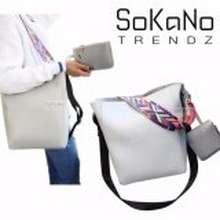SoKaNo Trendz Korean Style SKN617 PU Leather Shoulder Bag with Colourful  Strap (Set of 2 772842c295