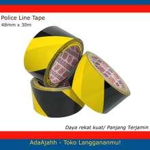 Police Lakban Selotip Line Merah Putih Hitam Kuning 48Mm X 30M Kuning