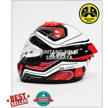 Merk Lainnya Helm Full Face INK CL Max White Balck Red Fluo