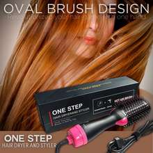 Revlon HIGH QUALITY ORIGINAL HAIR BLOWER AND VOLUMIZER ONE STEP Hot Air Brush/ Comb Electric Blow Dryer 5 in 1 hair Dryer and Volumizer like Revlon One Step Hair Dryer and Styler/ Curler Straightener Negative Ion Tool For men and women Upgraded Version