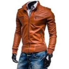 Global Jaket Kulit Pria BK-45 - Tan