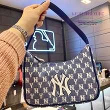 MLB Monogram Jacquard Hobo Bag New York Yankees - Navy