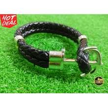 anchor gelang kulit / leather fashion kekinian