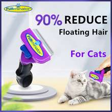 Furminator Authentic Deshedding Tool For Cats/Pet Combs/Cat Comb For Deshedding/Pet Hair Shedding Comb/Cat Brush/Grooming Tool/Hair Removal Comb