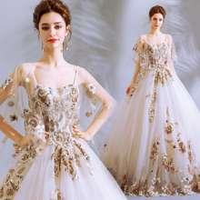 361 Gaun Pengantin Bestickt Renda Coklat Evening Gown